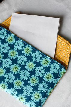 Fabric Envelope by Jeni Baker, via Flickr