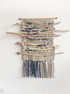 Items similar to Large Yarn Wall Hanging / Ready to Ship Woven Wall Hanging / Driftwood Wall Hanging / Rustic Wall Decor on Etsy – Nana Blanca – weberei Weaving Wall Hanging, Weaving Art, Loom Weaving, Tapestry Weaving, Hand Weaving, Wall Tapestry, Art Yarn, Yarn Wall Art, Weaving Projects