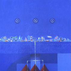 Título: Noche  Autor: Alvaro Galindo Vácha  Dimensiones: 120 x 120 cm  Técnica: Acrílico sobre tela  Año: 2006  Firmado: Frente y Revés