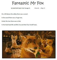 Fantastic Mr. Fox accelerated learning - An accelerated literacy teaching package on 'Fantastic Mr Fox' by Roald Dahl.