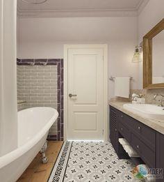 Дизайн ванной комнаты легкая классика