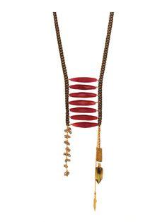 Magenta Jasper Warrior Necklace