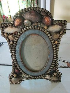 Antique-Seashell-Picture-Frame-Late-1800s