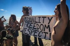 Topless protesters join Free the Nipple movement for gender equality Social Justice, Equality, Freedom, Gender, Join, Social Equality, Liberty, Political Freedom, Equation