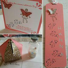 Stampin up Butterfly & fairy - all that stuff for Girls... Mädchengeschenkset mit echtem Feenstaub