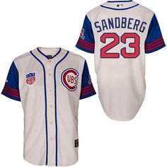 67c7227be Men s Chicago Cubs 1942 Ryne Sandberg Majestic 100th Anniversary Sunda Cubs  Players