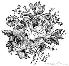 Maybe botanical style flowers with lace......
