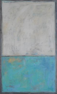 Minimalist Abstract Painting by Robin Pocisk 18 x 30 by robinsart
