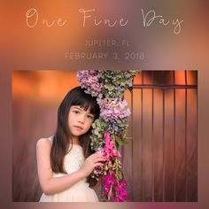 Join me on February 3, 2018 for One Fine Day in Jupiter, FLLocation: Jupiter, FLZip Code:  33458Time: 2pm - Sunset This is a 4 hour workshop with a styled shoot of 2-4 child models.   I will be covering everything from finding the light, styling, child interactions, post processing, and all the tools you will need to advance in your craft.  I am an open book and you are free to ask me anything.  You will receive a detailed edit of our shoot together within 3 days of ...