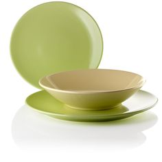 Set of 3 #Plates #Stoneware green 169pcs More info: www.4everyware.nl/