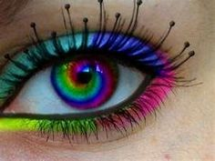 I found 'Rainbow Swirl Contatcs' on Wish, check it out!