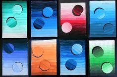 A tonal gradation with circles