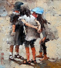 ~ Andre Kohn is a figurative artist originally hailing from Russia. Kohn primarily paints with oils, but will time-to-time switch to mixed media paintings. Figure Painting, Paintings I Love, Beautiful Paintings, Palette Knife, Knife Painting, Watercolor Painting, Art Blog, Art For Art Sake, Art Oil
