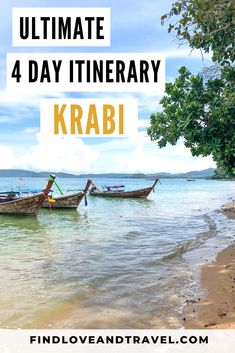 Ultimate Krabi 4 Day Itinerary. See the top places in Krabi, go island hopping and more! Detailed Krabi, Thailand travel guide. Includes fun things to do in Krabi, Thailand. #Krabi #thailand #thailandislandhopping #Krabithailand #Krabitravel #Thailandtravel #Thailanditinerary