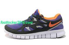 Nike Free Run 2 Mens Sneaker Purple Orange Black