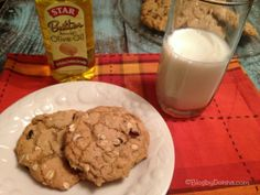 Oatmeal Raisin Cookies with Star Butter Flavored Olive Oil #STAROliveOil #shop - Blog By Donna