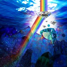 Rainbow & Diamonds #digitalgraffiti #art #illustration #katieglantz