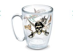 Guy Harvey Tervis Tumbler Shark Pirate Mug Handle + Lid MADE IN USA 16oz NEW  | eBay