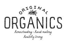 Logo d'Original Organics, parJessica Bruggink. Une déclaration, simple et nature.