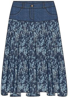 Purchase old jeans at thrift stores and attach hand woven skirt fabric!