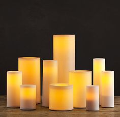 The Restoration Hardware weatherproof indoor / outdoor flameless candle collection. These are durable plastic and have a small hole to drain away rainwater. Flameless Candles With Timer, Pillar Candles, Outdoor Candles, Outdoor Lighting, Minimalist Lanterns, Pergola Patio, Gazebo, Restauration Hardware, Medicine Cabinet Mirror