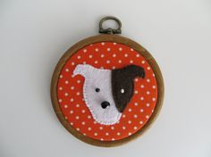 Staffordshire bull terrier dog felt motif mini by MisHelenEous