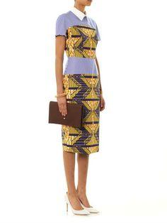 Stella Jean Viola stripe and African-print dress MATCHESFASHION.COM #MATCHESFASHION