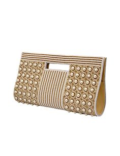 Clutch embellished with beads, pearls and diamonds