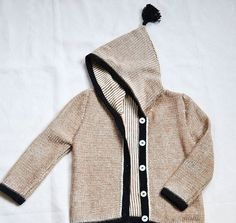 Patterned hooded sweater / baby alpaca brown hoodie / wool jacket /  baby hoodie knit sweater wool jacket kids boy girl baby gift