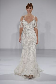 Bedazzling embroidery + illusion sleeves = a total Maggie Sottero showstopper! (Photo: Dan Lecca)