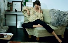 Helena Christensen | Photography by Marc Hom | For Ole Lynggaard... I simply love the shirt Helena is wearing!