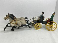 Antique Toys, Vintage Antiques, Horse Drawn, Cannon, Arcade, Cast Iron, 1930s, Horses, Painting