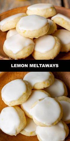 World's Most Delicious Lemon Meltaways Prep Time 20 mins Cook Time 13 mins Total Time 33 mins Lemon Desserts, Lemon Recipes, Köstliche Desserts, Dessert Recipes, Best Vegan Recipes, Favorite Recipes, Delicious Recipes, Italian Lemon Cookies, Lemon Drop Cookies