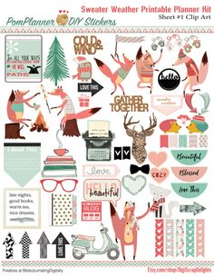 Sweater Weather Foxes Planner Kit & Free Planner Stickers - BibleJournalLove.com