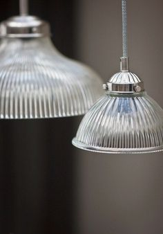 Garden Trading Petit Paris Light, with shaped glass shades and nickel coated steel fixings, hangs elegantly within any living space. Small Pendant Lights, Glass Pendant Light, Glass Pendants, Glass Lights, Mini Pendant, Console, Tons Clairs, Suspension Cable, Paris Lights