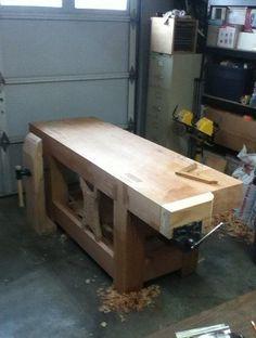 Roubo Workbench- Massive Doug Fir bench #woodworkingbench