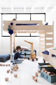 set of furniture for two kids sharing single room from  Rafa-kids