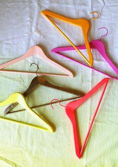 Love the colors of these hangers!!  credit: DesignLoveFest [http://www.designlovefest.com/2012/07/secret-ingredients/]