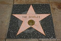 The Beatles Hollywood Walk of Fame star on the Hollywood Boulevard
