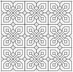 Blackwork pattern on repeat