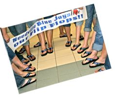 Blue Jays Custom Flip Flops - FanFlips.com