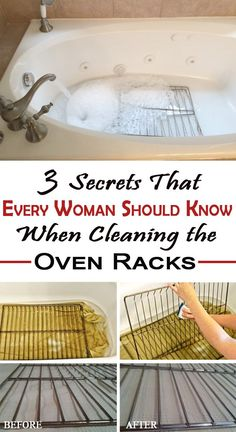 3 Secrets That Every Woman Should Know When Cleaning the Oven Racks