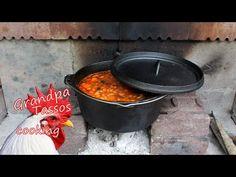 Φασολάδα Κυριακάτικη - YouTube Bean Soup, Greek Recipes, Sweet Home, Cooking, Wood, Fire, Outdoor Decor, Youtube