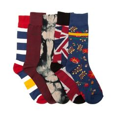 Shop for Mens Tie Dye Union 5pk Crew  Socks in Multi at Journeys Shoes.