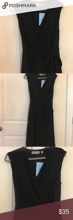NWT. B-slim black A line dress NWT b-slim easy wear a line black nylon dress. Very flattering on. Built in tummy control. Can be worn year round! new york collection. Dresses