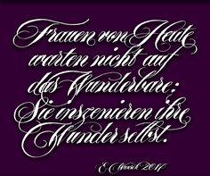Zitat von K. Hepburn / Quote from K. Hepburn, Calligraphy & graphicdesign by Elke Wunsch