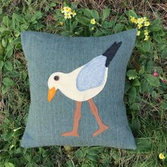 Wading gull. A tactile cushion made from wool. Complete with feather pad. £40.00