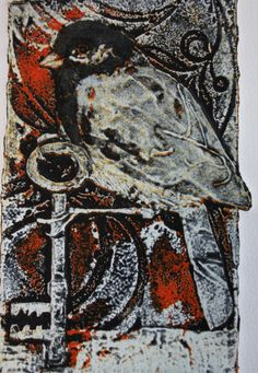 Sue Brown viscosity print - Collagraph
