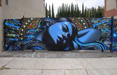 El Mac x Retna, The Voice of Reason, Los Angeles 2006 - www.street-art-avenue.com Love their art!