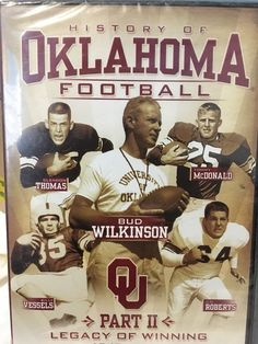 History Of OKLAHOMA Football OU 1947 - 1963 Part II Dvd Legacy Of Winning NEW 825452508474 | eBay